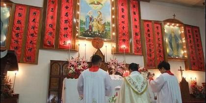 Católicos chinos