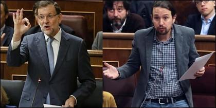 Mariano Rajoy e Iglesias.