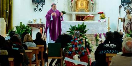 Ginés García, en las exequias