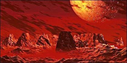 Cristales de silicio en Marte.