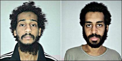 Los yihadistas británicos Alexander Kotey y El Shafee Elsheikh, decapitadores del Ejército Islámico.