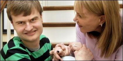 Chico con autismo