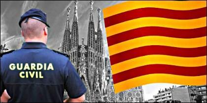 La Guardia Civil en Cataluña.