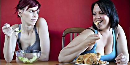 Dieta, kilos, obesidad y alimentos.