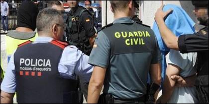 La Guardia Civil, Policía Nacional y Mossos
