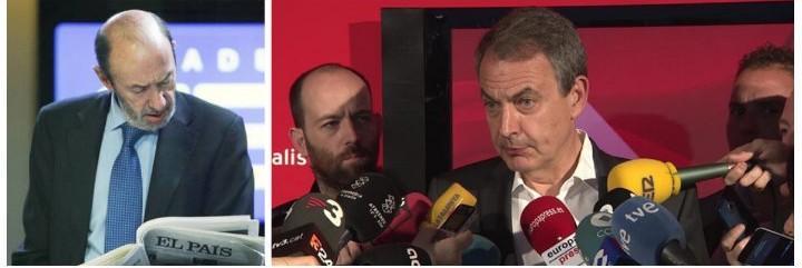Alfredo Pérez Rubalcaba y José Luis Rodríguez Zapatero.