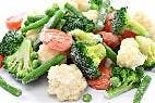 Verduras: Los alimentos congelados son saludables.