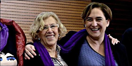 Manuela Carmena con Ada Colau.