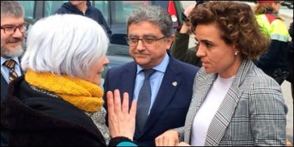 La alcaldesa de Badalona y la ministra de Sanidad