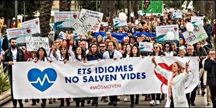Manifestación contra la imposición del catalán en Baleares.