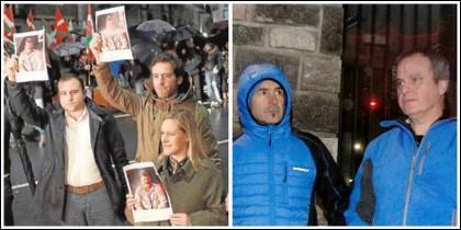 Dirigentes del PP plantan cara a los proetarras en Bilbao.