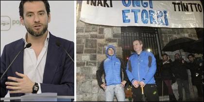 Borja Semper y el homenaje a los etarras en Andoain.