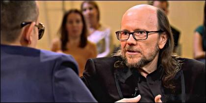 Risto Mejide y Santiago Segura en el 'Chester' de CuatroTV.