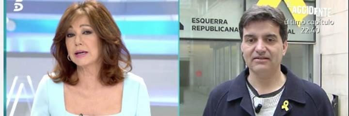Ana Rosa Quintana dando bien de cera a Sergi Sabriá.