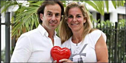 La tenista Arantxa Sánchez Vicario con Josep Santacana, cuando eran un 'matrimonio feliz'.