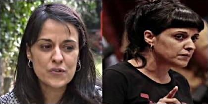 Anna Gabriel (CUP), ahora y antes.