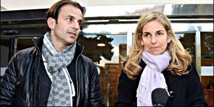 Josep Santacana con la tenista Arantxa Sánchez Vicario.