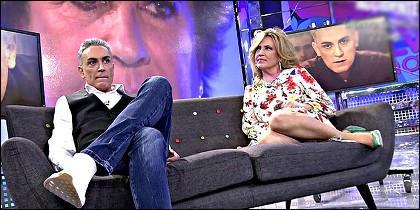 Kiko Hernández con Lydia Lozano en 'Sálvame' de Telecinco.