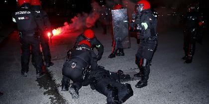 Incidentes con los ultras del Spartak en San Mamés