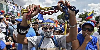 Hambre, represión y protestas en la Venezuela chavista.