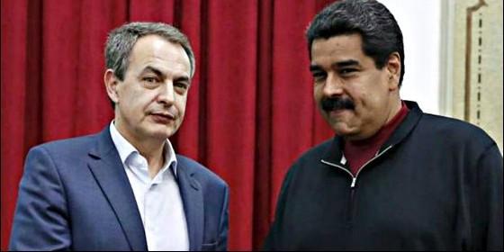 José Luis Rodríguez Zapatero con el tirano Nicolás Maduro.