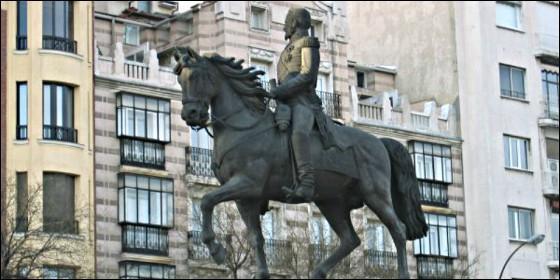 El caballo de Espartero, junto al Retiro de Madrid.
