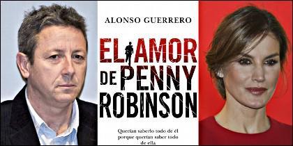 Alonso Guerrero, la portada del libro y la Reina Letizia.