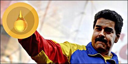 El dictador Nicolás Maduro y el petro venezolano.