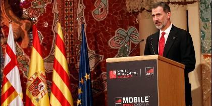Felipe VI en el Mobile World Congress