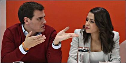 Albert Rivera, junto a Inés Arrimadas (CIUDADANOS).