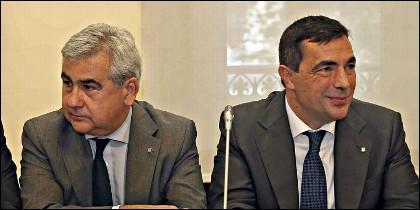 El ex secretario general de Interior César Puig y del exdirector de los Mossos d'Esquadra Pere Soler.