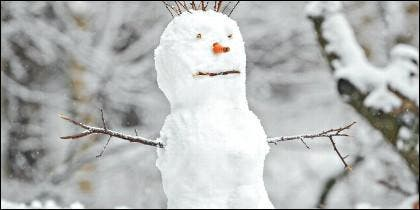 El muñeco de nieve.