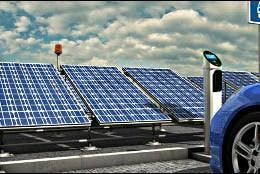 Paneles solares y células fotovoltaicas para cargar tu coche eléctrico.