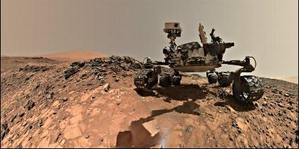 El Rover Curiosity en Marte.