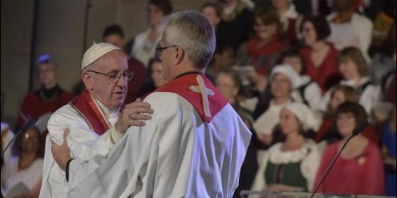 Francisco y el pastor Tveit en Lund, Suecia