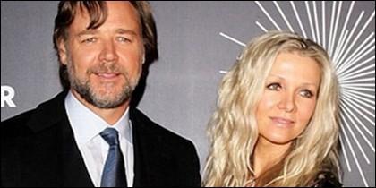 Russell Crowe y su ex