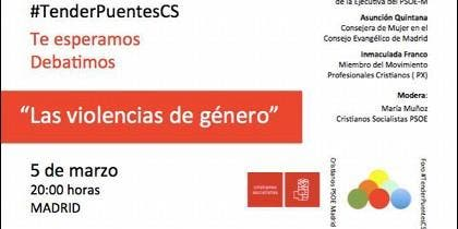 Las Violencias de Géner, en el Foro Tender Puentes de Madrid
