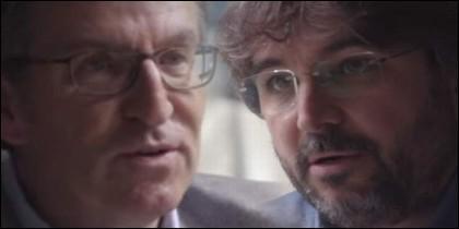 Feijóo y Jordi Évole