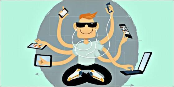 Generación Z: tecnología, redes sociales, tablet, movil.