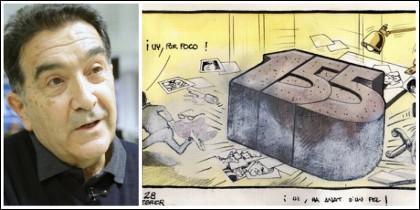 Miquel Ferreres y la viñeta de la falsa polémica.