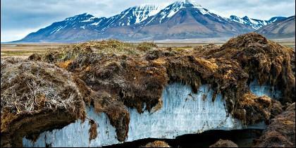 Permafrost en el Círculo Polar Artico.