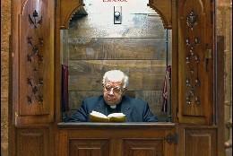 Confesionario en la catedral de Santiago