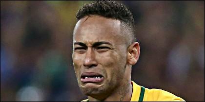 Neymar Jr está triste.