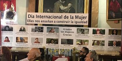 Panel de la mujer en san Antón