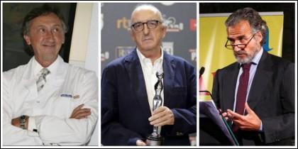 Artur Carulla, Jaume Roures y Ferrán Rodés.