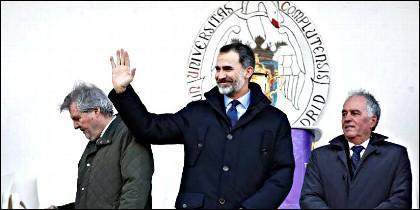 Rugby Felipe VI presidió el España-Alemania en la Complutense de Madrid.