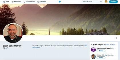 Jesús Sanz nos bloquea en Twitter