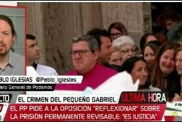 Pablo Iglesias sobre la muerte de Gabriel.