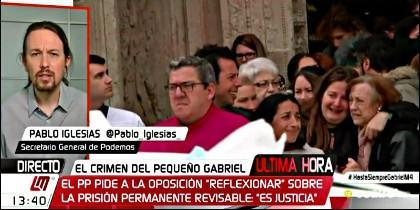 Las Mañanas de Cuatro: Pablo Iglesias intenta sacar partido de la muerte del niño Gabriel Cruz, en Cuatro TV.