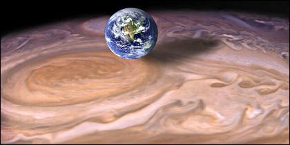 La Gran Mancha Roja de Júpiter.
